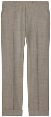 Gucci Houndstooth wool trousers