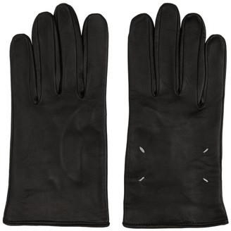 Maison Margiela Black Leather Gloves