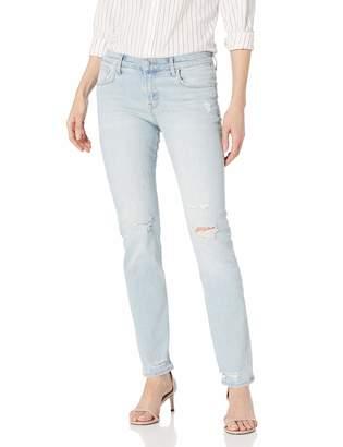 J Brand Jeans Women's Amelia Mid Rise Straight in Starstruck Destruct 25