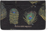 Alexander McQueen Printed Pebble-grain Leather Cardholder - Black