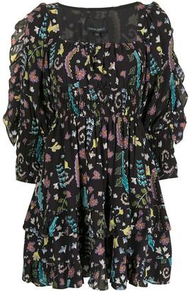 Cynthia Rowley Holly smocked ruffle dress