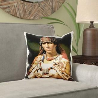 Frederick World Menagerie Borum Portrait of a Kabylie Woman, Algeria by Arthur Bridgman Pillow Cover World Menagerie
