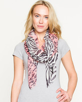 Le Château Mixed Animal Print Lightweight Scarf