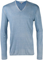 John Varvatos V-neck jumper - men - Silk/Cashmere - S