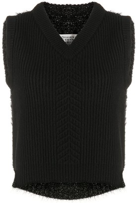 Maison Margiela Ribbed Sleeveless Jumper