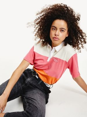 Tommy Hilfiger Colour-Blocked Cropped Fit Polo
