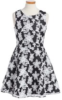 Nanette Lepore Girl's Floral Embroidered Dress