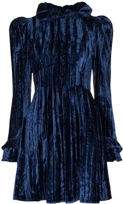 Batsheva Prairie velvet mini dress