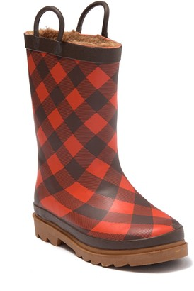 Western Chief Plaid Campfire Rain Boot (Toddler & Little Kid)