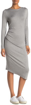 Threads And States Long Sleeve Side Ruched Dress