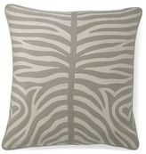 Zebra Crewel Floor Cushion