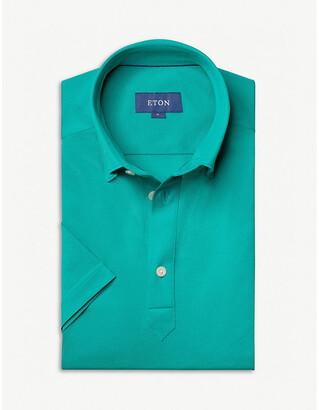 Eton Short-sleeved cotton-pique polo shirt