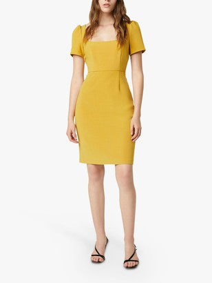 French Connection Awitti Bodycon Dress, Mustard Seeds