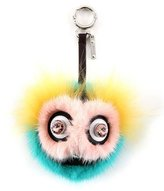 Fendi Dazzeling Bag Bug Fur Charm, Pink/Yellow/Blue