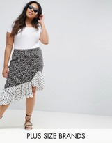 Influence Plus Mix And Match Floral Print Asymmetric Skirt