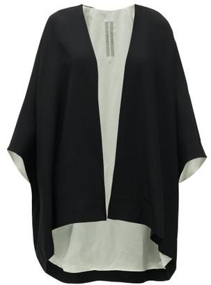 Rick Owens Wool-blend Crepe Jacket - Black Multi