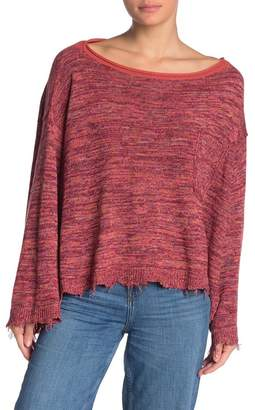 Free People Prism Space Dye Knit Pullover