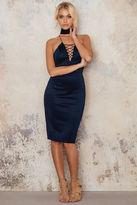 AX Paris V Lace Up Midi Dress