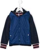 Moncler tonal bi-texture hooded jacket - kids - Cotton/Polyamide - 6 yrs