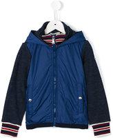 Moncler tonal bi-texture hooded jacket