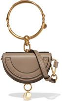 Chloé Nile Mini Leather Shoulder Bag - Gray