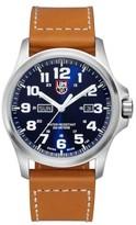 Luminox Men's 'Atacama Field' Leather Strap Watch, 45Mm
