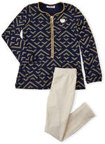 Juicy Couture Girls 4-6x) Two-Piece Half-Zip Printed Tunic & Leggings Set