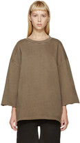 Yeezy Taupe Cropped-Sleeve Pullover