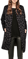 Gerard Darel Garnier Leopard Print Coat, Grey/Black
