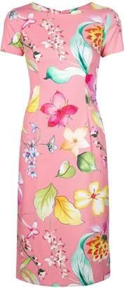 Carolina Herrera floral print fitted dress