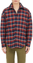 Balenciaga Men's Plaid Cotton Flannel Shirt Jacket