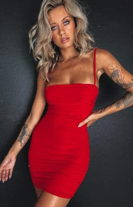 Beginning Boutique Crazy in Love Dress Red