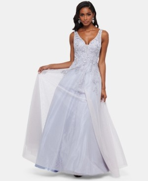 Xscape Evenings Embroidered Sleeveless Ballgown