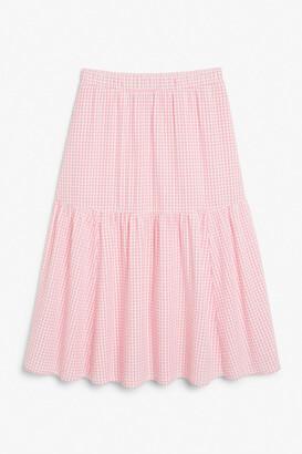 Monki Cotton midi skirt