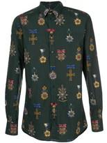 Dolce & Gabbana Dolce E Gabbana Men's Green Cotton Shirt.