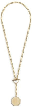Shay Yellow Gold and Diamond Essentials Nameplate Necklace