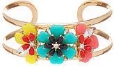 Anna & Ava Flashback Flower Open Cuff Bracelet
