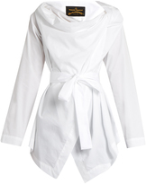 Vivienne Westwood Square cotton-poplin blouse
