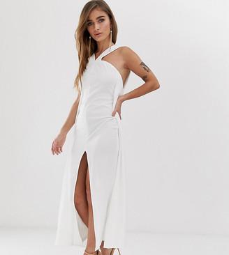 ASOS DESIGN Petite strappy cape maxi dress