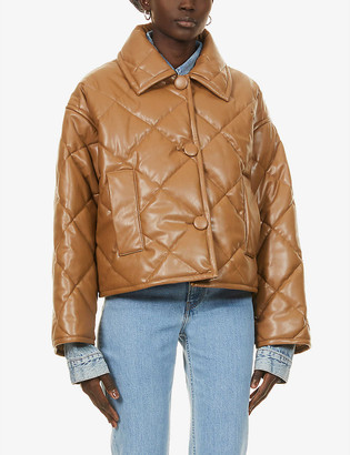 Stand Jacinda quilted faux-leather jacket