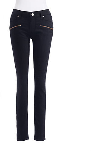 Paige Skinny Jeans with Zipper Detail