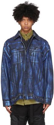 Ottolinger Blue Oversized Denim Painted Jacket