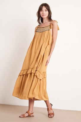 Velvet by Graham & Spencer Vonnie Embroidered Maxi Dress