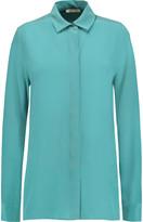 Maje Calypso washed-silk blouse