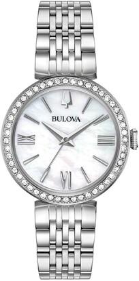 Bulova Women's Watch And Bracelet Boxed Set, 30mm