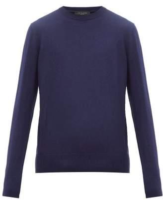 Rag & Bone Barrow Cotton Blend Sweater - Mens - Navy