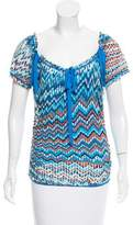 Missoni Chevron Short Sleeve Top