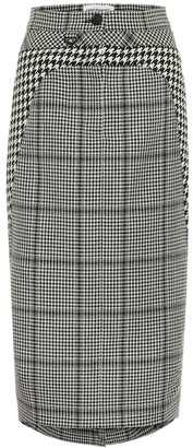 Marine Serre Houndstooth wool pencil skirt