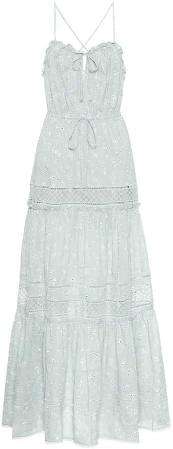 Jonathan Simkhai Kava cotton eyelet-lace maxi dress