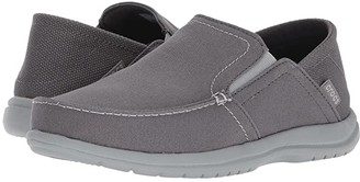 Crocs Santa Cruz Convertible Slip-On (Light Grey/Slate Grey) Men's Slip on Shoes